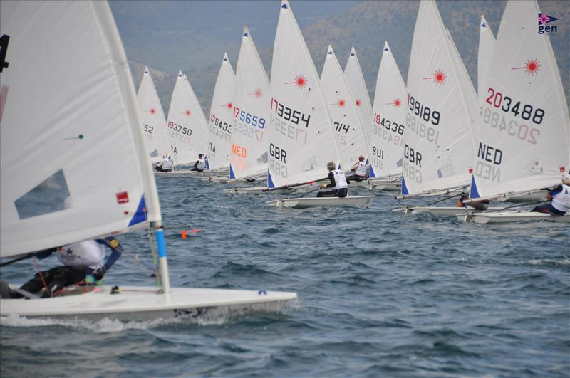 Laser Masters Europeans at Grup d'Esports Nautics Roses photo copyright Laura Carrau / GEN Roses taken at Grup d'Esports Nautics Roses and featuring the Laser Radial class