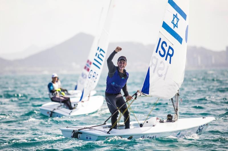 Israeli Laser Radial Boys - Maor Ben Hrosh standing photo copyright Tomas Moya / Sailing Energy / World Sailing taken at  and featuring the Laser Radial class
