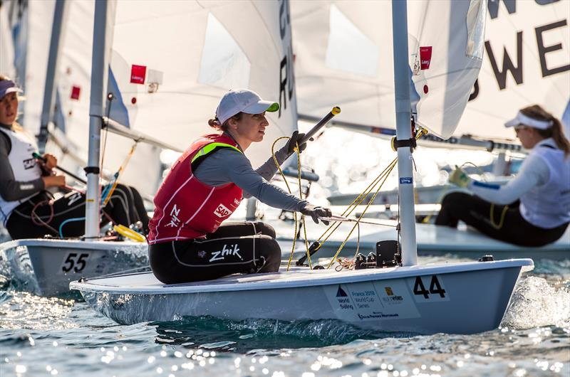 2018 World Cup Series Hyères Day 3 photo copyright Richard Langdon / Sailing Energy taken at  and featuring the Laser Radial class