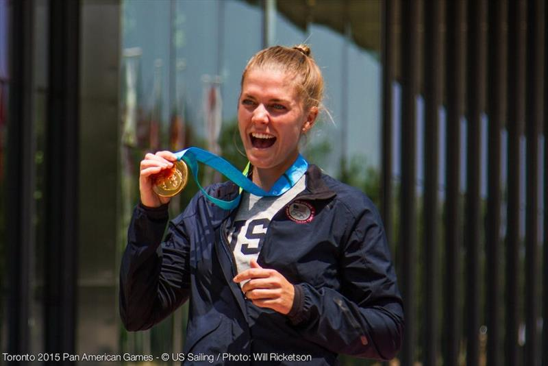 Paige Railey (USA) wins gold at the Toronto 2015 Pan American Games. photo copyright Will Ricketson taken at  and featuring the Laser Radial class