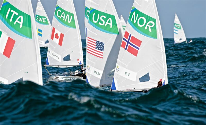 More observations from the WP: `Although the One Person Dinghy events have country flags on sails, they are not visible enough.to easily identify the countries.` photo copyright Richard Gladwell taken at  and featuring the Laser Radial class