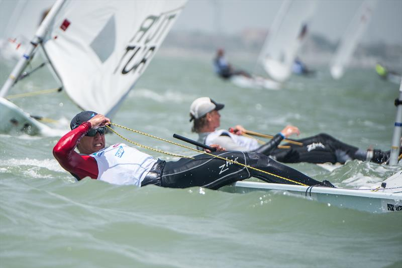 Mens Laser Radial - Day 1, 2018 World Sailing Youth Worlds, Corpus Christi, Texas, USA - photo © Jen Edney / World Sailing