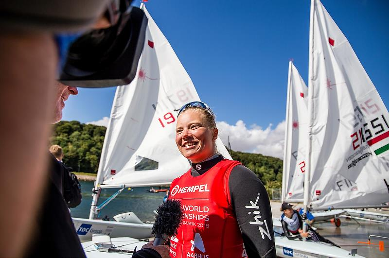 Laser Radial - Day 10 - Hempel Sailing World Championships, Aarhus, Denmark, August 10, 2018 photo copyright Marina Garcia / Sailing Energy / Hempel Sailing World Championships, Aarhus taken at  and featuring the Laser Radial class