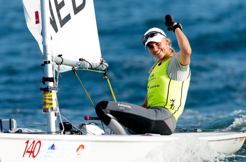 Marit Bouwmeester (NED) - Laser Radial - wins Gold at the Sailing World Cup, Enoshima, Japan photo copyright Sailing Energy taken at  and featuring the Laser Radial class