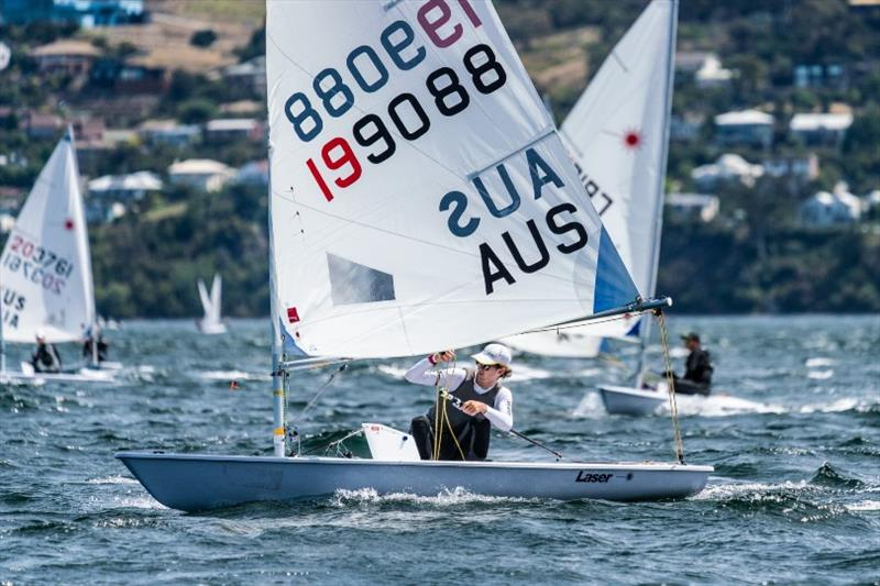 Laser Radial World champion Zac Littlewood (WA) dominated the Radial fleet - Day 4, Australian Sailing Youth Championships 2019 - photo © Beau Outteridge