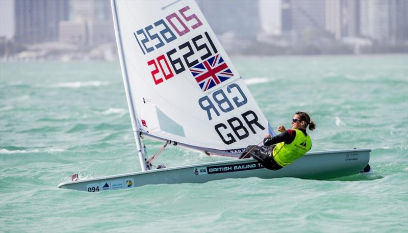 Laser Radial champion Ali Young - World Cup Series Miami - photo © Jesus Renedo / Sailing Energy / World Sailing