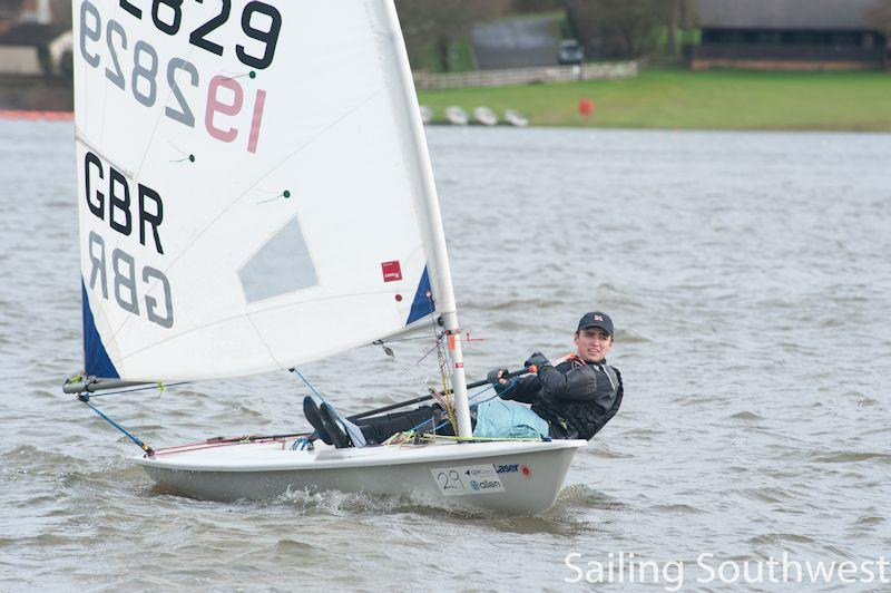Max Robertson in the Sutton Bingham Icicle - part of the Sailing Southwest Winter Series - photo © Lottie Miles
