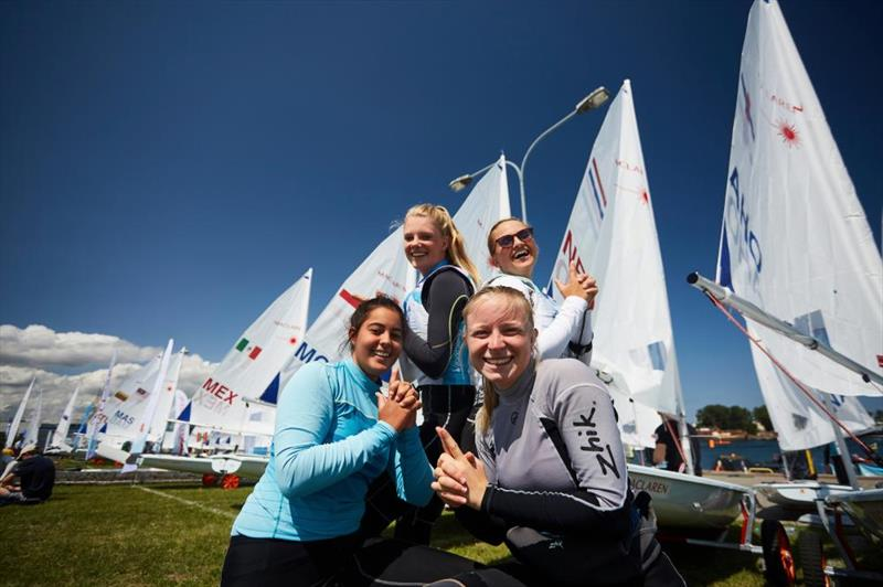 Female sailors at the 2019 Hempel Youth Sailing World Championships - photo © Robert Hajduk