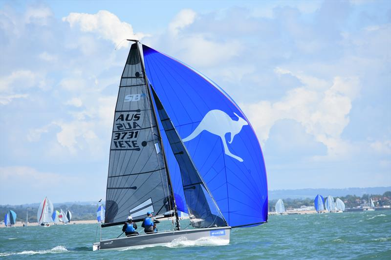 Export Roo wins race 1 on day 1 of the SB20 Worlds at Cowes - photo © Jane Austin