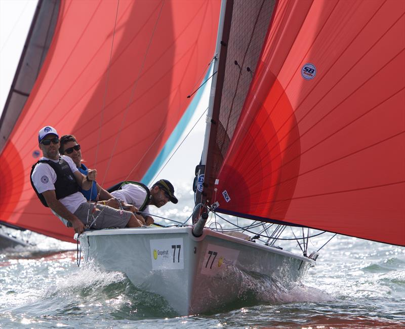 Difficult Woman had mixed results on day 4 of the SB20 Worlds at Cowes - photo © Jennifer Burgis