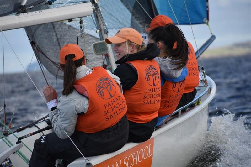 The Fahan School Sailing Team, another talented youth team on the water in Hobart photo copyright Jane Austin taken at  and featuring the SB20 class