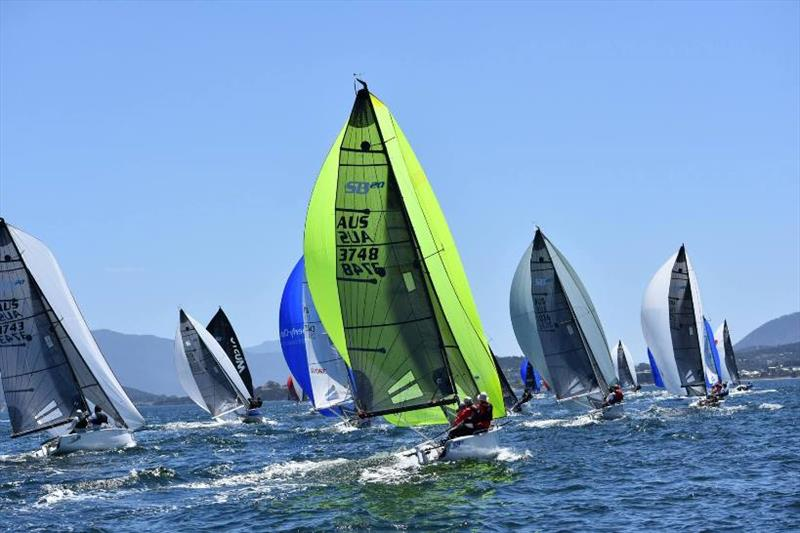 The Tasmanian SB20 fleet has a big sailing program ahead in Hobart photo copyright Jane Austin taken at  and featuring the SB20 class