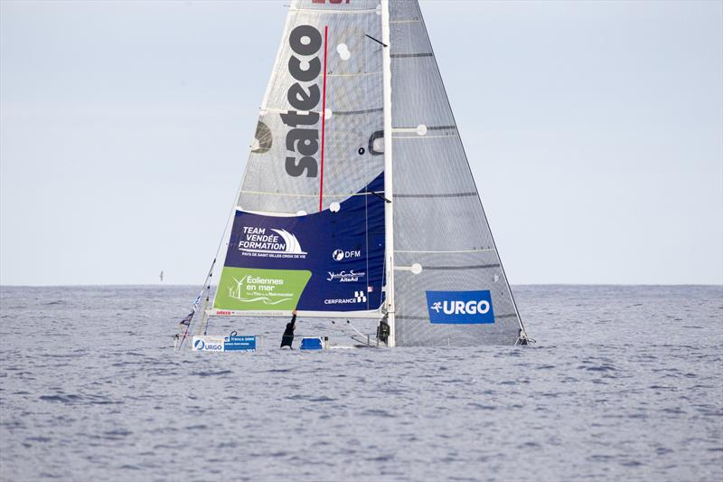 Benjamin Dutreux (Sateco) during Stage 3 of La Solitaire URGO Le Figaro - photo © Alexis Courcoux