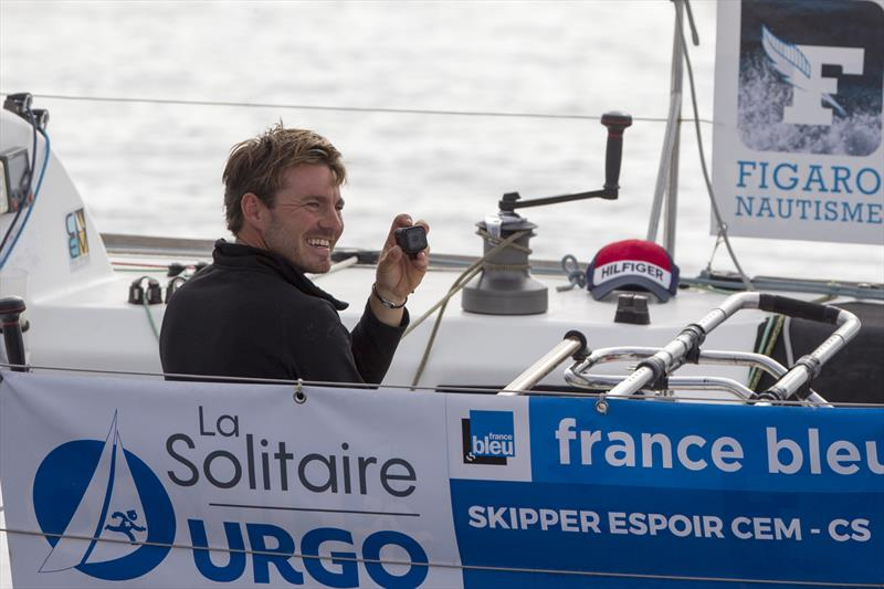 Pierre Quiroga (Skipper Espoir CEM) during Stage 3 of La Solitaire URGO Le Figaro - photo © Alexis Courcoux