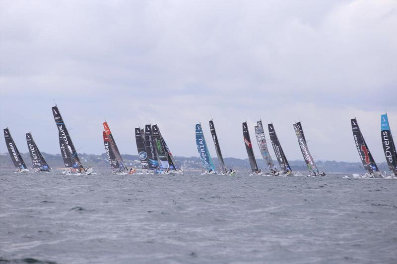 Solitaire Urgo Le Figaro 2019 Stage 3 start - photo © Thomas Deregnieaux / Alan Roberts Racing