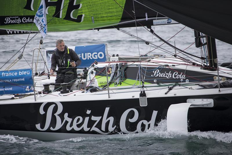 Gildas Mahe (Breizh Cola-Equithe) during La Solitaire Urgo Le Figaro 2019 Leg 3 - photo © Alexis Courcoux
