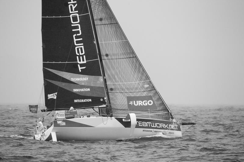 Rounding Wolf Rock during La Solitaire URGO Le Figaro Leg 4 - photo © Alexis Courcoux