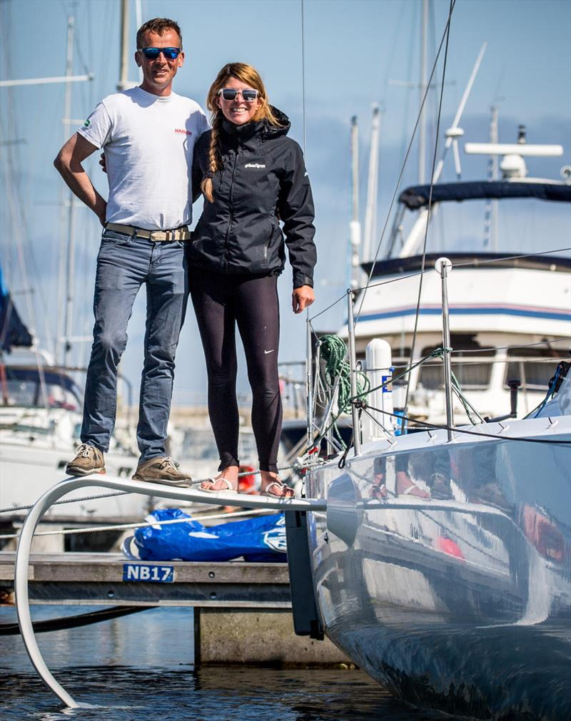 Conor Fogarty, along with co-skipper Susan Glenny, is competing in the Dun Volvo Dun Laoghaire to Dingle Race - photo © Rachel Fallon-Langdon