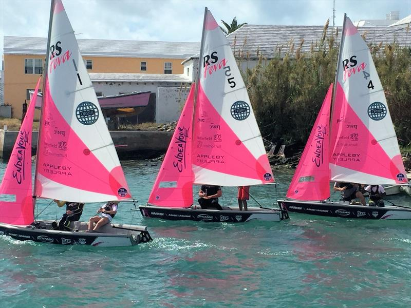 RS Fevas set for the America's Cup Junior Endeavour Regatta - photo © RS Sailing
