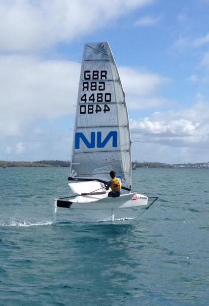 Dylan leading the MS Amlin International Moth Regatta in Bermuda - photo © Lennon Sails