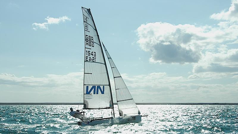 Glen and Sam sail testing in Weymouth Bay - photo © Mike Lennon