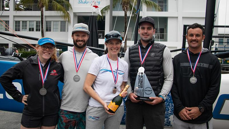 Jennifer Wilson and her Convergence crew finished second oveall - M32 North American Championship - photo © Felipe Juncadella