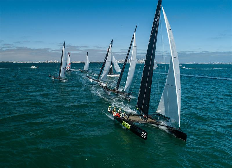 Action on Biscayne Bay at the M32 North American Championship. - photo © Felipe Juncadella