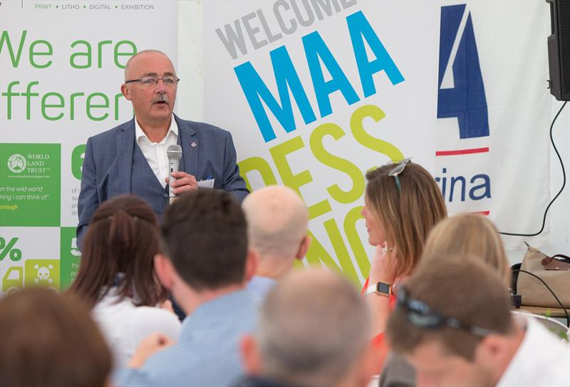 David Pougher speaks at the MAA Press Lunch - photo © MAA