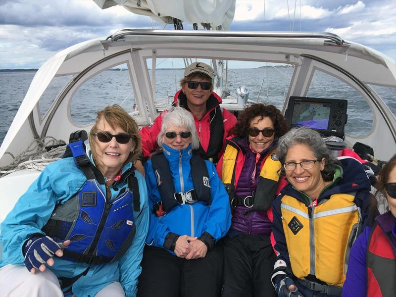 The Women's Sailing Conference in Marblehead, Mass., June 6, includes on-water learning. photo copyright Scott Croft taken at  and featuring the Marine Industry class