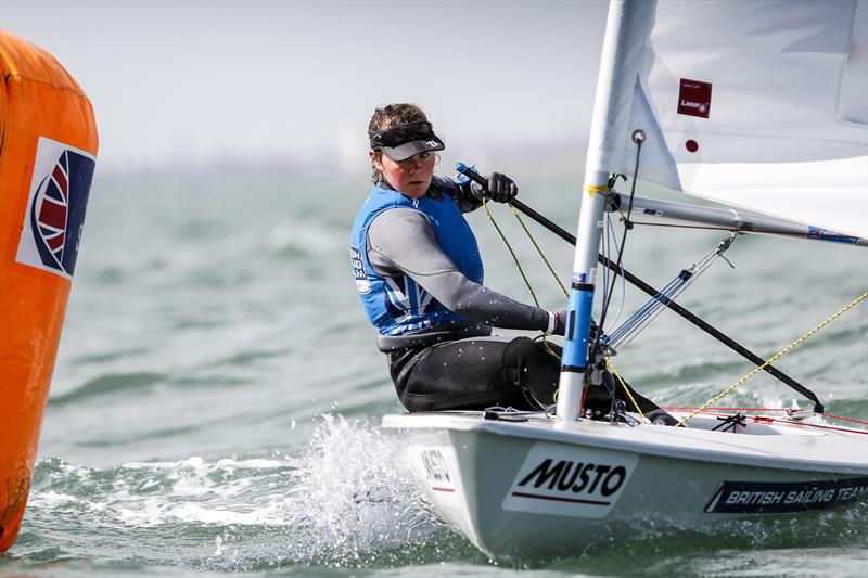Clementine Thompson, Laser Radial sailor for the British Sailing Team - photo © Paul Wyeth / RYA