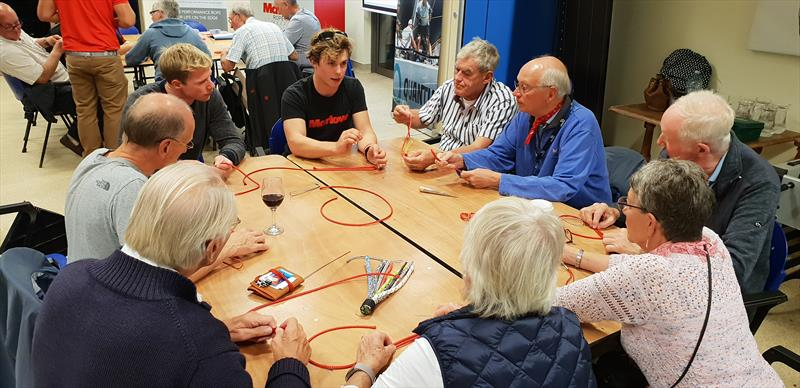 British Sailing Team 49er sailor Nick Robins leads a splicing workshop during the Marlow Rope-Show at Hayling Island Sailing Club - photo © Emma Donovan
