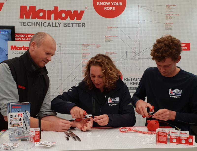 Splicing lessons with Marlow photo copyright Marlow Ropes taken at  and featuring the  class