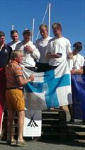 Team Ronnberg win the EUROSAF Match Racing, European Youth Championship © Nelson Mattreux