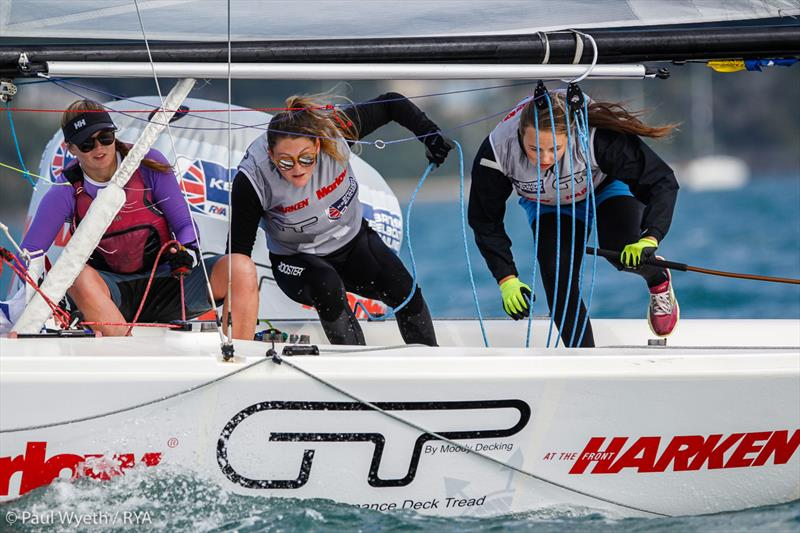 2018 Marlow Ropes Women's Match Racing Championship - photo © Paul Wyeth / RYA