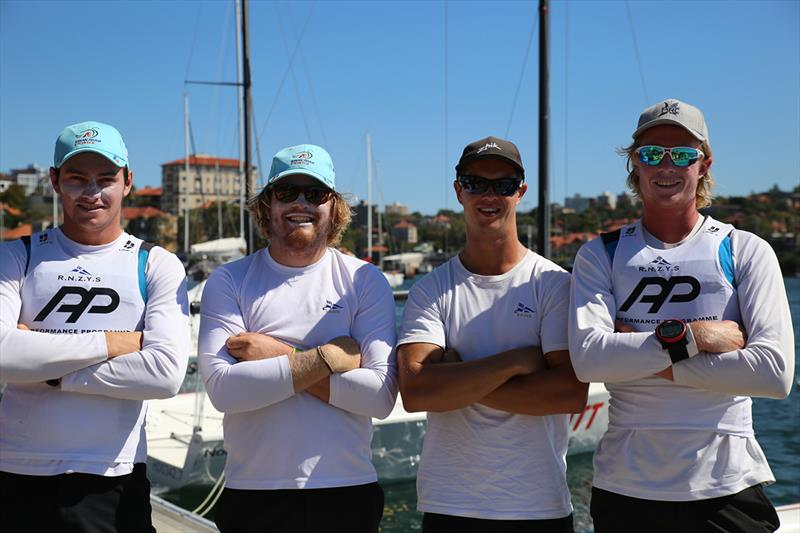 Anyon's RNZYS team dockside at the RSYS - 2018 Hardy Cup Sydney International Match Racing Regatta - photo © Darcie C Photography