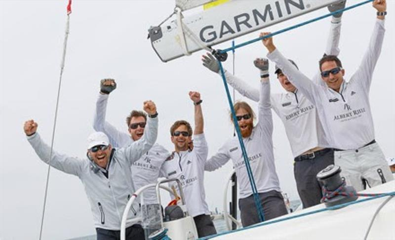 Albert Riele Swiss Team with skipper Eric Monning, winner of Match Race Super League 2017 and Match Race Germany 2017 photo copyright Nico Martinez / Match Race Germany taken at  and featuring the Match Racing class