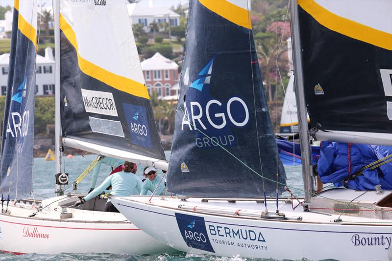 Lucy MacGregor keeps a close eye on Chris Poole's bow - 2018 Argo Group Gold Cup - Day 2 - photo © Charles Anderson / RBYC