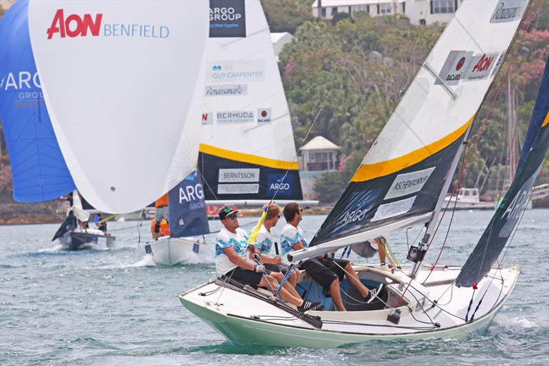 Joachim Aschenbrenner and crew work upwind - 2018 Argo Group Gold Cup - Day 2 - photo © Charles Anderson / RBYC