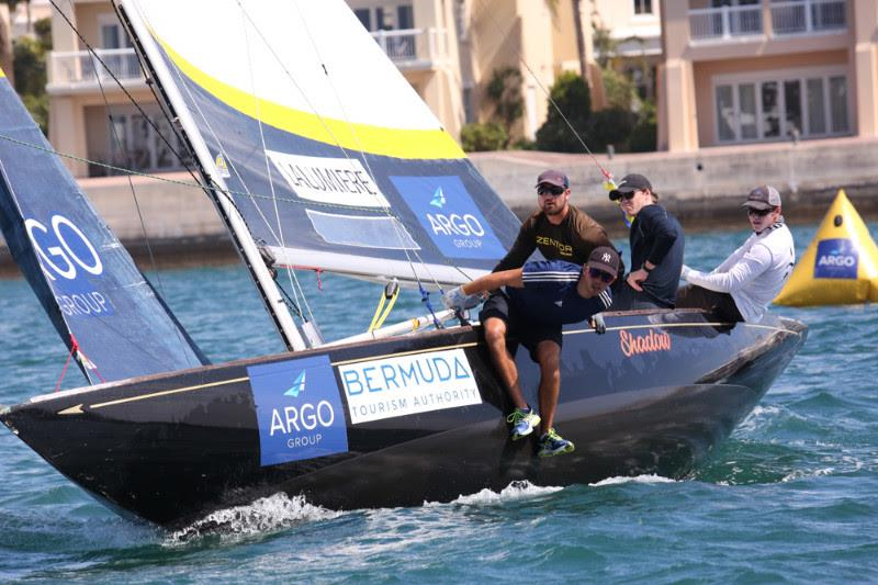 Charlie Lalumiere of the U.S. is first-time participants at the Argo Group Gold Cup who qualified for the quarterfinals photo copyright Charles Anderson / RBYC taken at Royal Bermuda Yacht Club and featuring the Match Racing class