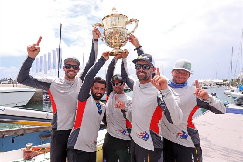 Taylor Canfield (left) and crew Victor Diaz de Leon, George Peet, Mike Buckley and Erik Shampain, champions of the 68th Argo Group Gold Cup - photo © Charles Anderson / RBYC
