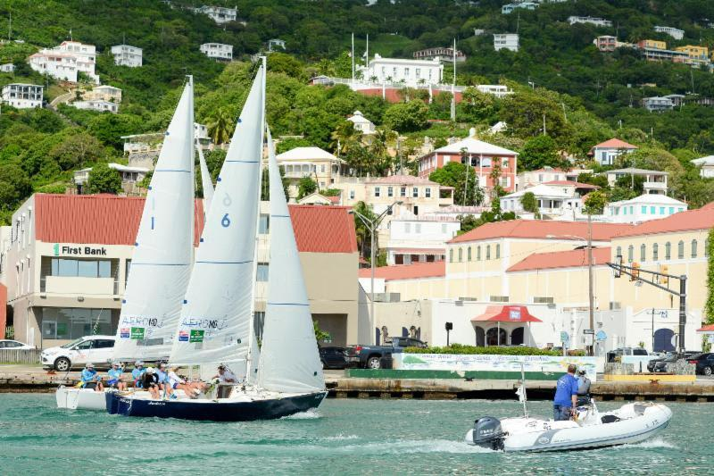 Action in St. Thomas' Charlotte Amalie harbor at the 2016 WIM Series - photo © Dean Barnes / CAMR