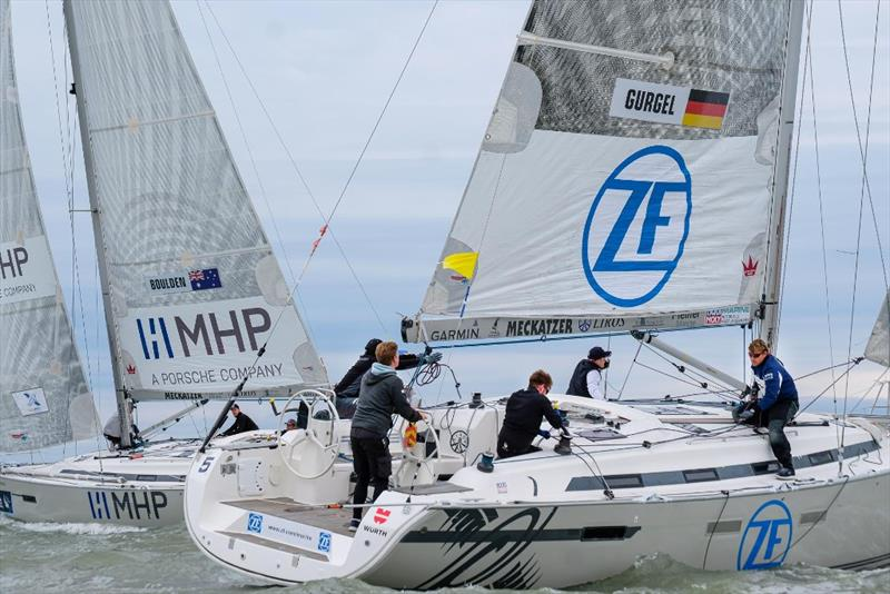 Will Boulden (left) vs. Max Gurgel -  22nd Match Race Germany photo copyright Andy Heinrich / MRG taken at  and featuring the Match Racing class