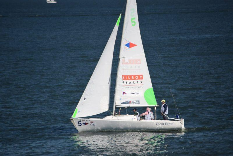 Pearson Potts and his crew claimed the Prince of Wales Bowl and the U.S. Match Racing Championship for the second year running - photo © Scott Armstrong/St. Francis Yacht Club