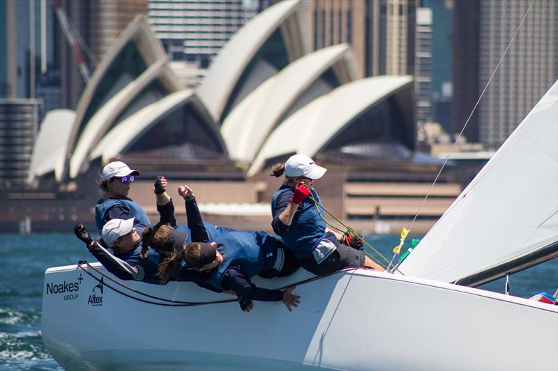 First All-female team to win was Clare Costanzo of RPAYC in 2018 Hardy Cup photo copyright Darcie Collington Photography taken at Royal Sydney Yacht Squadron and featuring the Match Racing class
