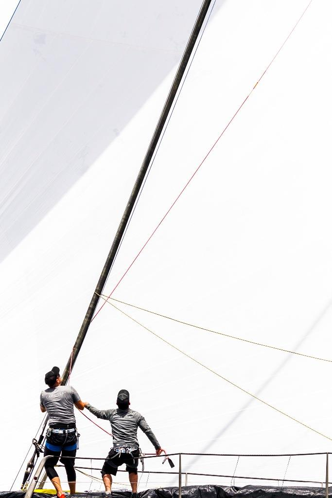 What goes up must come down. Alex Schaerer's Maxi 72 Caol Ila R - 2019 Rolex Giraglia - photo © IMA / Studio Borlenghi