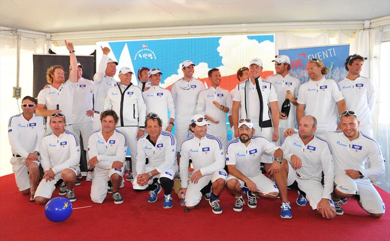 Line honours for Esimit Europa 2 in the Barcolana - photo © Esimit Europa / Peter Irman