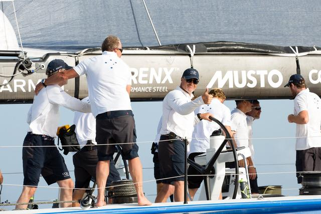 Ludde Ingvall's Maxi CQS takes line honour in the RORC Transatlantic Race photo copyright RORC taken at  and featuring the Maxi class