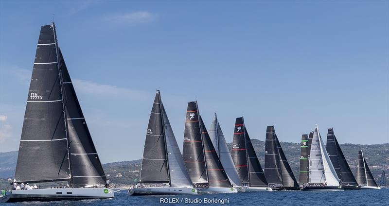 Maxi boat and Mylius class start in the Bay of Naples - Rolex Capri Sailing Week - photo © Rolex / Studio Borlenghi