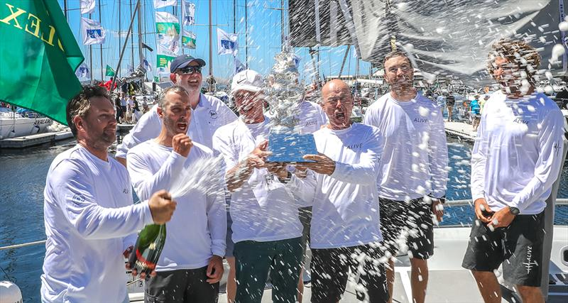 Alive Yachting claim the Tattersall's Cup for the overall win under IRC rating in the 2018 Sydney Hobart race - photo © Crosbie Lorimer