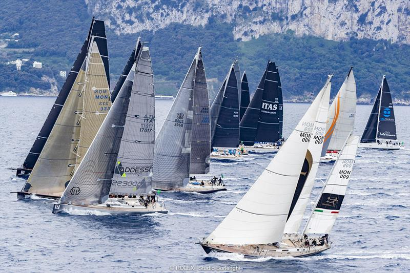 Joint starts for the Racer-Cruiser and Cruiser-Racer divisions - Rolex Capri Sailing Week photo copyright Rolex / Studio Borlenghi taken at Yacht Club Capri and featuring the Maxi class